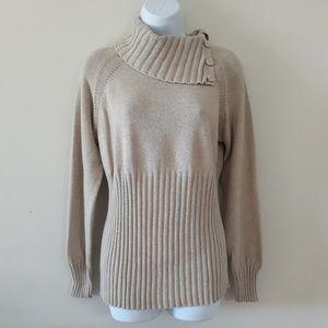 Axcess| Liz Claiborne Ribbed Cowl Neck Sweater
